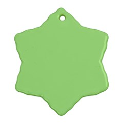 Meadow Green Snowflake Ornament (two Sides)