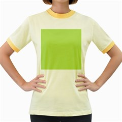 Minty Women s Fitted Ringer T Shirts