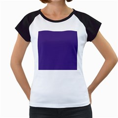 Dark Grape Purple Women s Cap Sleeve T
