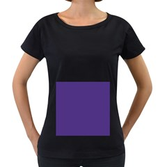 Dark Grape Purple Women s Loose Fit T Shirt (black)