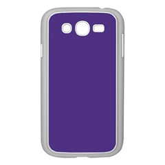 Dark Grape Purple Samsung Galaxy Grand Duos I9082 Case (white)