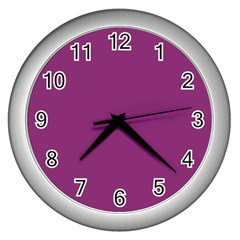 Grape Purple Wall Clocks (silver)
