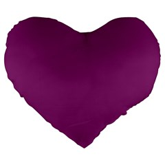 Grape Purple Large 19  Premium Heart Shape Cushions