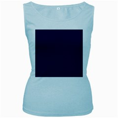 Dark Navy Women s Baby Blue Tank Top