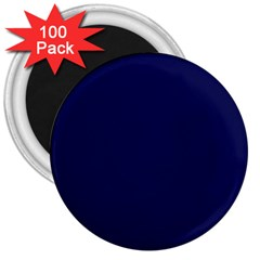 Dark Navy 3  Magnets (100 Pack)