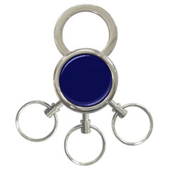 Dark Navy 3 Ring Key Chains