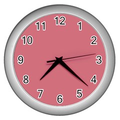 Pink Mauve Wall Clocks (silver)