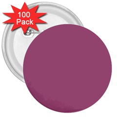 Rose Grey 3  Buttons (100 Pack)