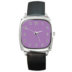 Grey Lily Square Metal Watch