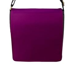 Grape Juice Flap Messenger Bag (l)