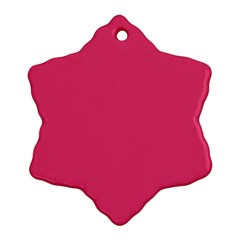 Rosey Day Snowflake Ornament (two Sides)