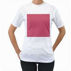 Rosey Women s T Shirt (white) (two Sided)