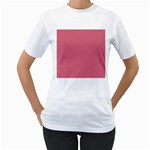 Rosey Women s T-Shirt (White) (Two Sided) Front