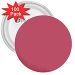 Rosey 3  Buttons (100 pack)  Front