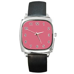 Rosey Square Metal Watch