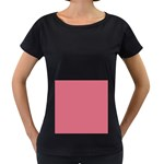 Rosey Women s Loose-Fit T-Shirt (Black) Front