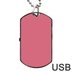 Rosey Dog Tag Usb Flash (one Side)