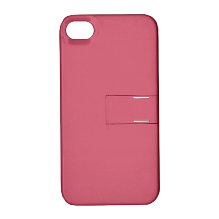 Rosey Apple iPhone 4/4S Hardshell Case with Stand