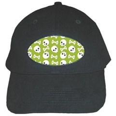 Skull Bone Mask Face White Green Black Cap