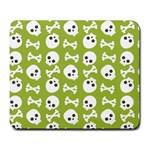 Skull Bone Mask Face White Green Large Mousepads Front