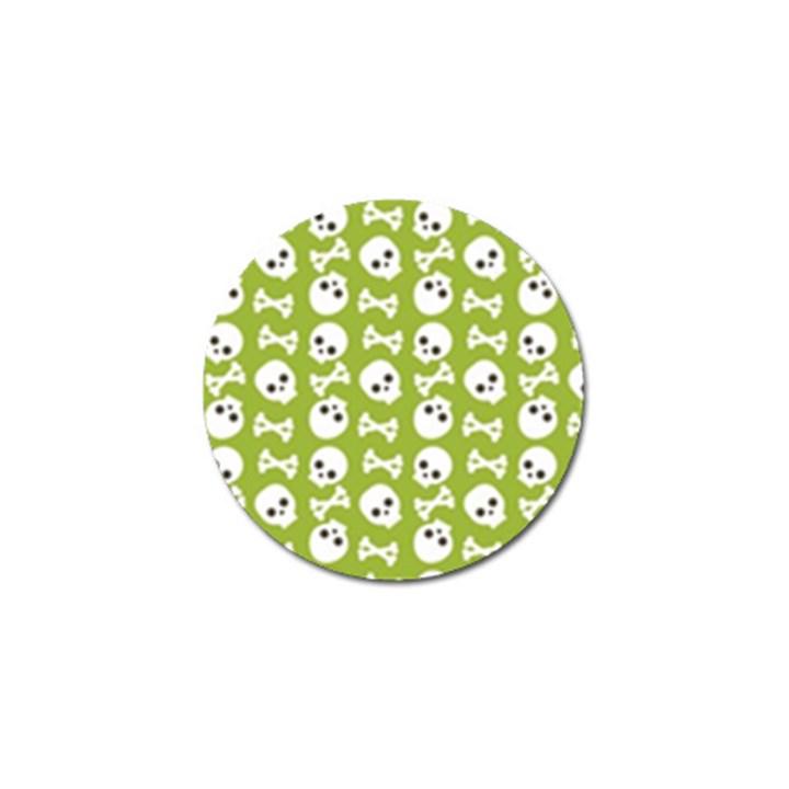 Skull Bone Mask Face White Green Golf Ball Marker (4 pack)