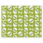 Skull Bone Mask Face White Green Rectangular Jigsaw Puzzl Front