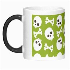 Skull Bone Mask Face White Green Morph Mugs