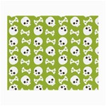 Skull Bone Mask Face White Green Small Glasses Cloth Front