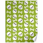 Skull Bone Mask Face White Green Canvas 12  x 16   16 x12 Canvas - 1