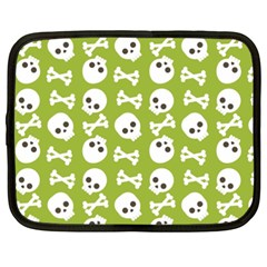 Skull Bone Mask Face White Green Netbook Case (xxl)
