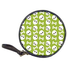 Skull Bone Mask Face White Green Classic 20 Cd Wallets