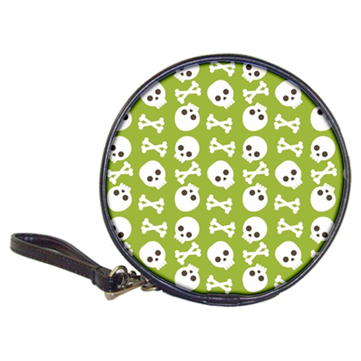 Skull Bone Mask Face White Green Classic 20-CD Wallets