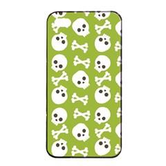 Skull Bone Mask Face White Green Apple Iphone 4/4s Seamless Case (black)