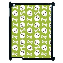 Skull Bone Mask Face White Green Apple Ipad 2 Case (black)