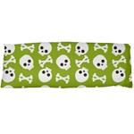 Skull Bone Mask Face White Green Body Pillow Case (Dakimakura) Body Pillow Case