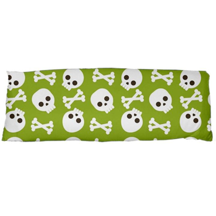 Skull Bone Mask Face White Green Body Pillow Case (Dakimakura)