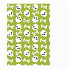 Skull Bone Mask Face White Green Large Garden Flag (two Sides)