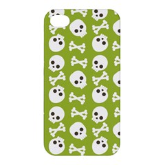 Skull Bone Mask Face White Green Apple Iphone 4/4s Premium Hardshell Case