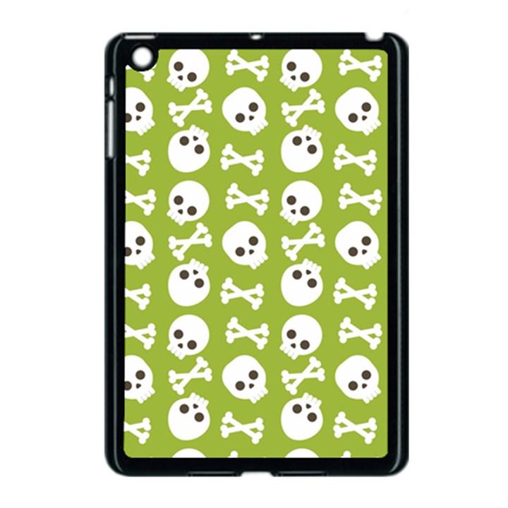 Skull Bone Mask Face White Green Apple iPad Mini Case (Black)
