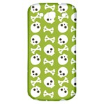 Skull Bone Mask Face White Green Samsung Galaxy S3 S III Classic Hardshell Back Case Front
