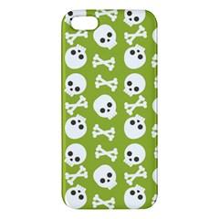 Skull Bone Mask Face White Green Apple Iphone 5 Premium Hardshell Case
