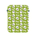 Skull Bone Mask Face White Green Apple iPad 2/3/4 Protective Soft Cases Front