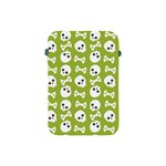 Skull Bone Mask Face White Green Apple iPad Mini Protective Soft Cases Front