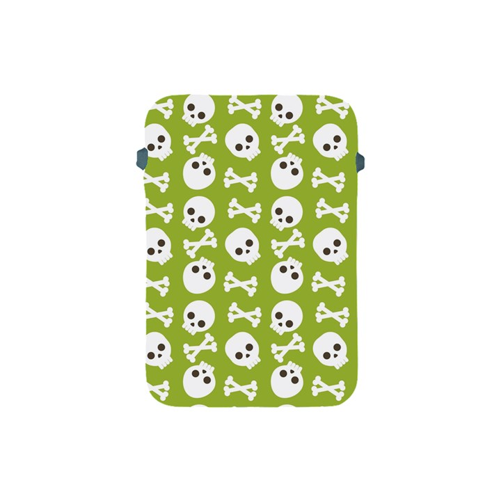 Skull Bone Mask Face White Green Apple iPad Mini Protective Soft Cases