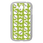 Skull Bone Mask Face White Green Samsung Galaxy Grand DUOS I9082 Case (White) Front