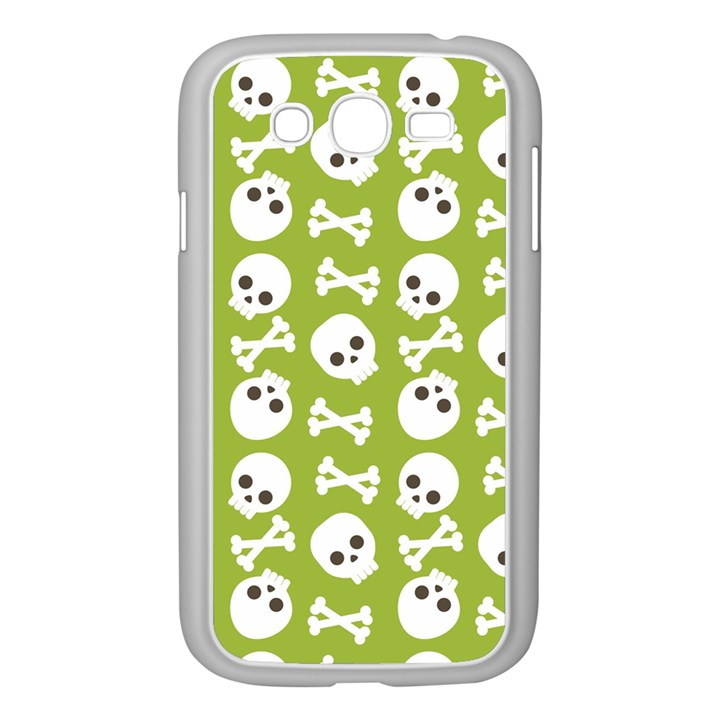 Skull Bone Mask Face White Green Samsung Galaxy Grand DUOS I9082 Case (White)