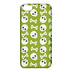 Skull Bone Mask Face White Green Apple Iphone 5c Hardshell Case