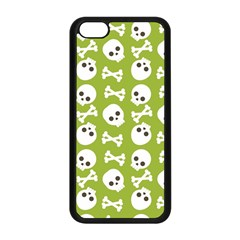 Skull Bone Mask Face White Green Apple Iphone 5c Seamless Case (black)