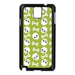 Skull Bone Mask Face White Green Samsung Galaxy Note 3 N9005 Case (black)