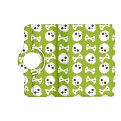 Skull Bone Mask Face White Green Kindle Fire Hd (2013) Flip 360 Case